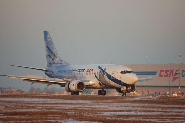 Boeing 737 ČSA ve výročním zbarvení