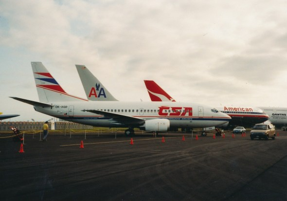 Boeing 737 500 ČSA ještě v Seattle
