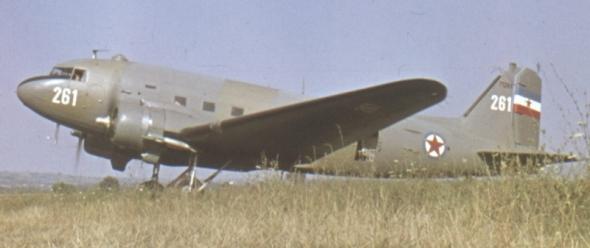 Dakota během služby v Jugoslávii