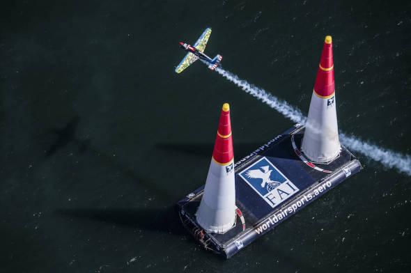 Petr Kopfstein na trati San Diego 2017 Red Bull Air Race