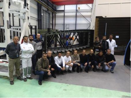 team Airbusu a jejich křídlo z kompozitu