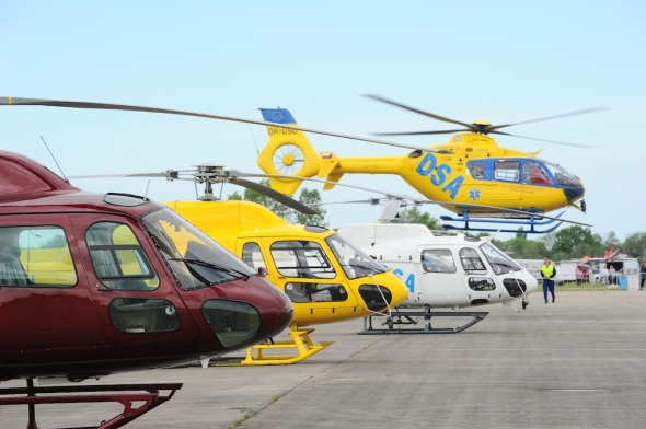 DSA Helicopter Show Hradec Králové
