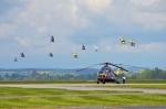 Helicopter Show 2017 úvodní průlet skupiny vrtulníků