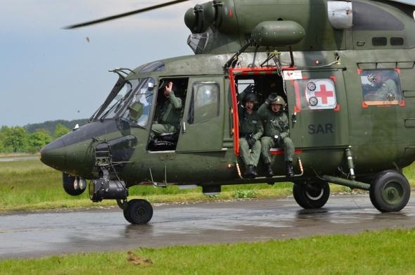 Helicopter Show 2017 vrtulník W3A Sokol Polsko