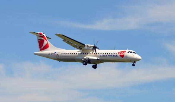 ATR 72 ČSA letiště Cheb