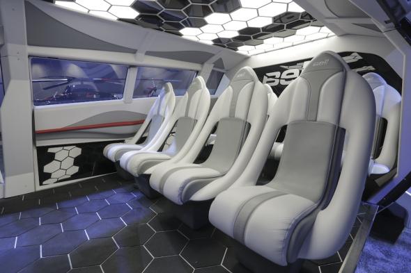 Bell FCX 001 sedadla cestujících