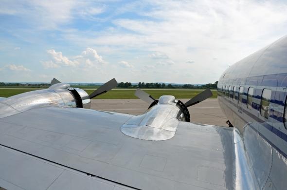 Douglas DC 6 pohlec z paluby