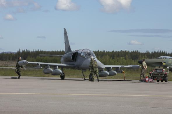 Příprava L 159 před startem ve Švédsku