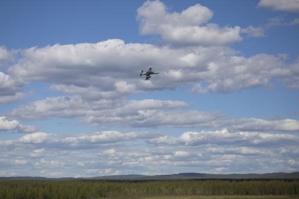 Aero L 159 nad Švédskem 2017