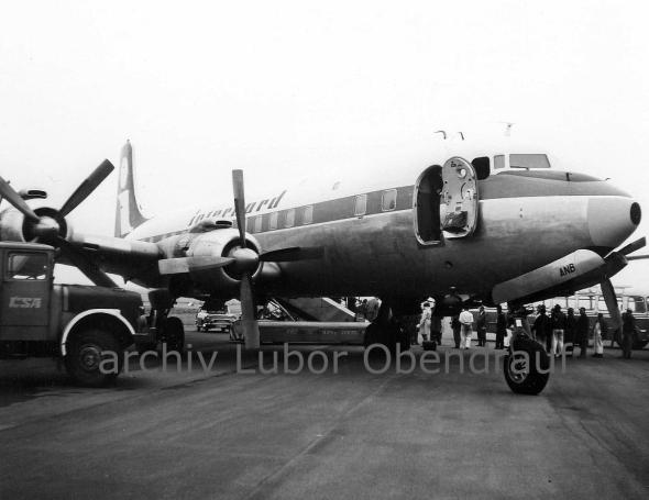 Douglas DC 6 Praha Ruzyně
