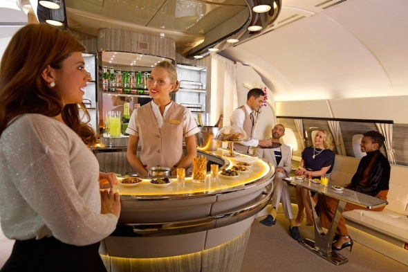 Nový palubní salónek Airbus A380 Emirates