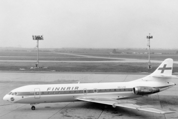 Aerospatiale S.E. 210 FinnAir Prague Airport