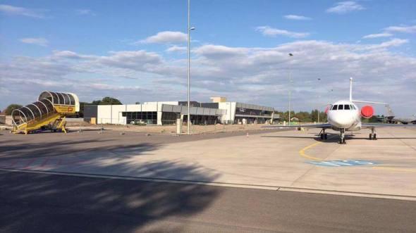 Nově vznikající terminál letiště Pardubice