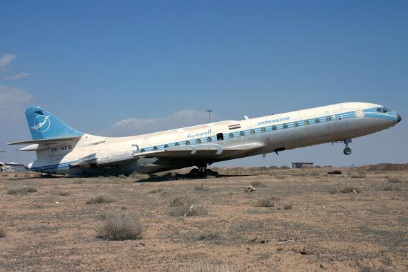 Odstavená Caravelle v Damašku