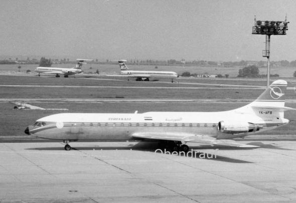 SyrianAir Caravelle Prague Airport