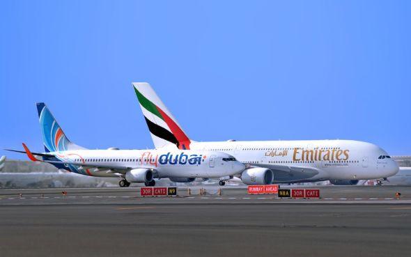 Emirates a flydubai
