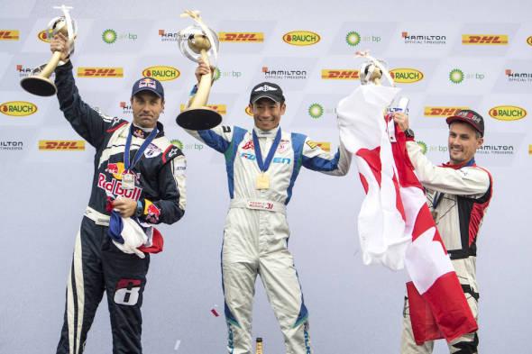 Yoshihide Muroya, Martin Šonka, Pete McLeod Red Bull Air Race 2017