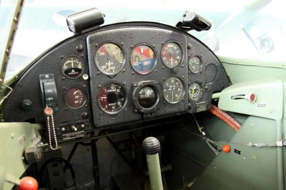 Zlín Z 26 interior Aviation museum Prague
