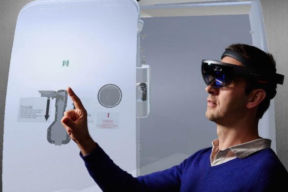 Airbus HoloLens technika dveří