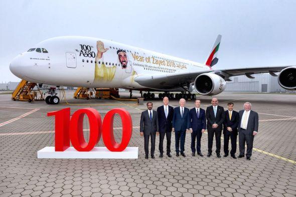 Emirates 100 Airbus A 380