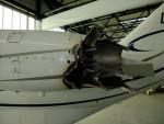 motor Cessny Citation poškozený sopečným popelem