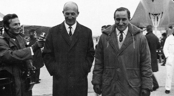 Vlevo André Turcat, vpravo Brian Trubshaw v Toulouse