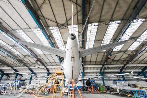 Czech Airlines Technics pracoviště údržby