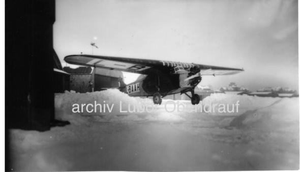 Letiště Kbely zima 1929 Fokker F-VII a L BAAH