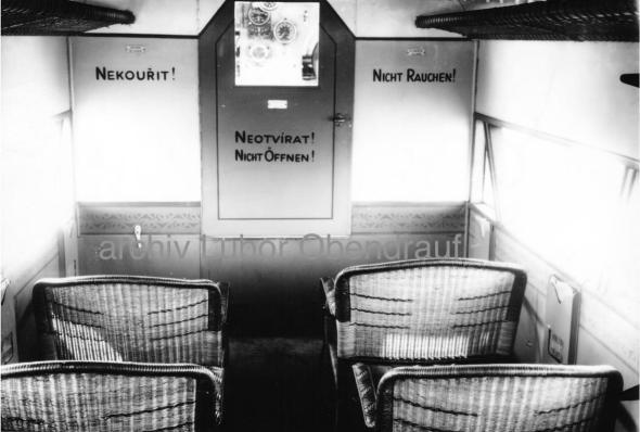 interiér dopravního letounu Fokker F-VII a L BAAH