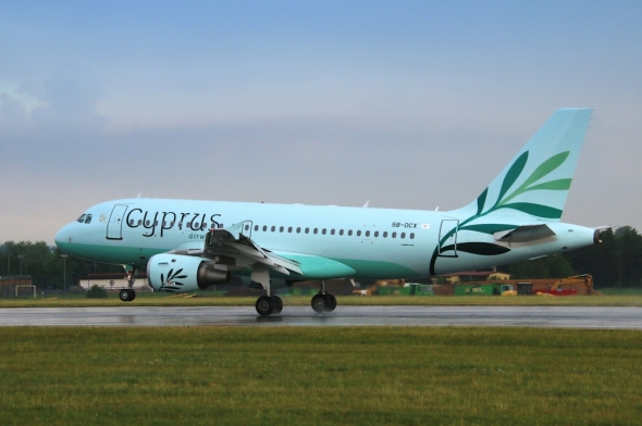 Cyprus Airways landing Prague Airport