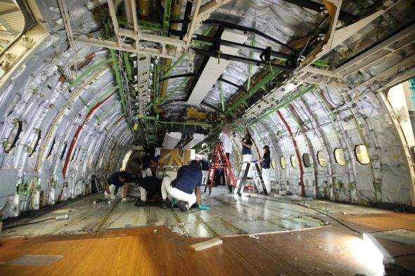 rekonstrukce interieru Boeing 777 200 LR Emirates