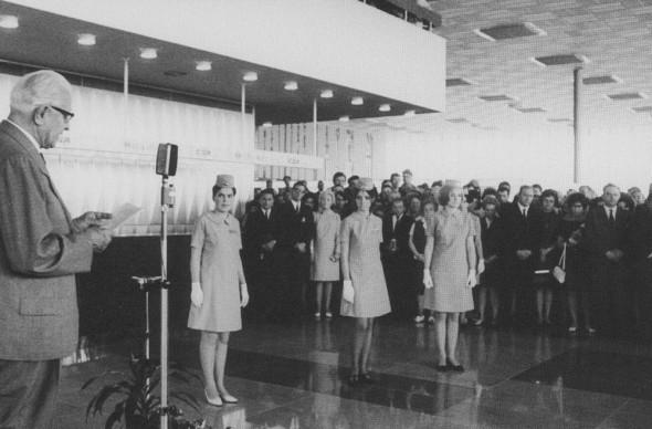 1968 otevreni noveho letiště generál Svoboda Praha