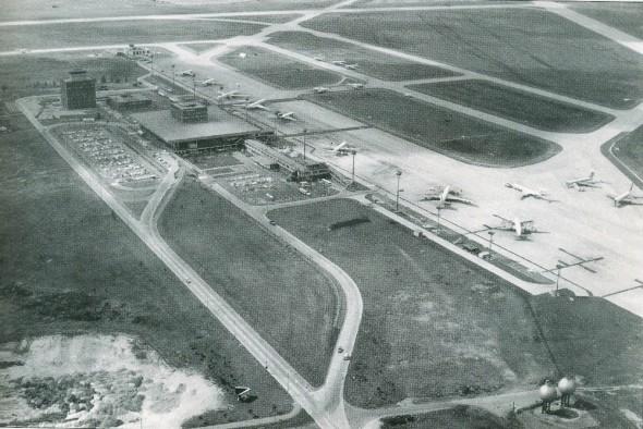 1970 pohled na letiště Praha Ruzyně