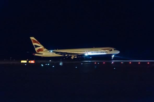 Boeing 767 poslední přistání british airways