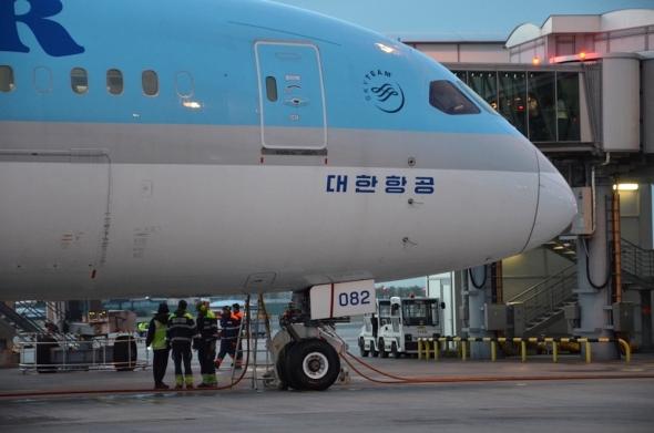 Boeing 787 Dreamliner Korean Air letiště Praha