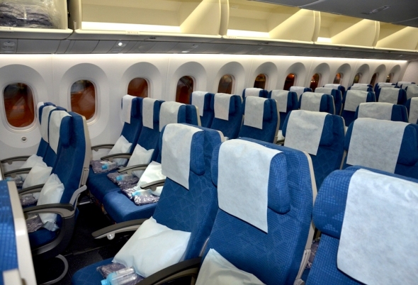 Korean Air Boeing 787 Dreamliner economy