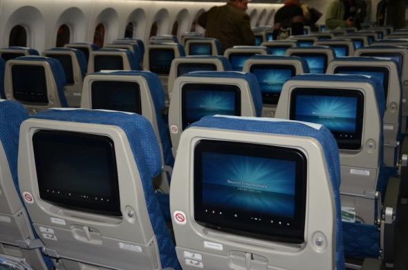 Korean Air Boeing 787 Dreamliner ekonomická třída