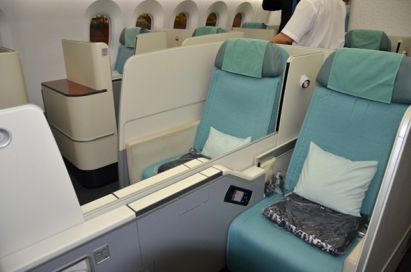 Korean Air Boeing 787 Dreamliner první třída