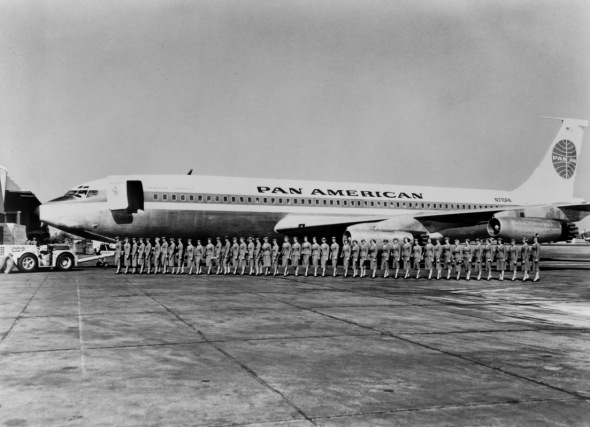 Pan Am Boeing 707 škola pro letušky