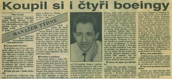 1993.00 prezident Terrexu M. Michal