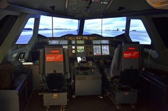 Simulátor Airbus A 380 kokpit