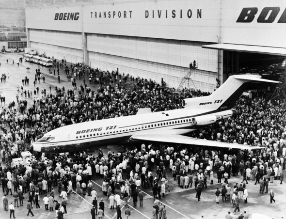 první roll out Boeing  B 727