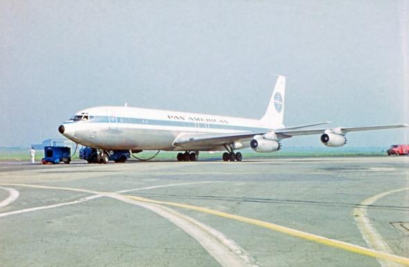 Boeing B707 Pan Am PRG letiště Prague