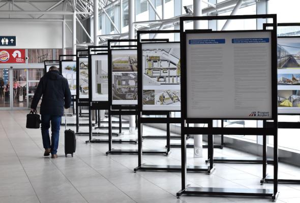 Architektonická výstava letiště Praha Ruzyně
