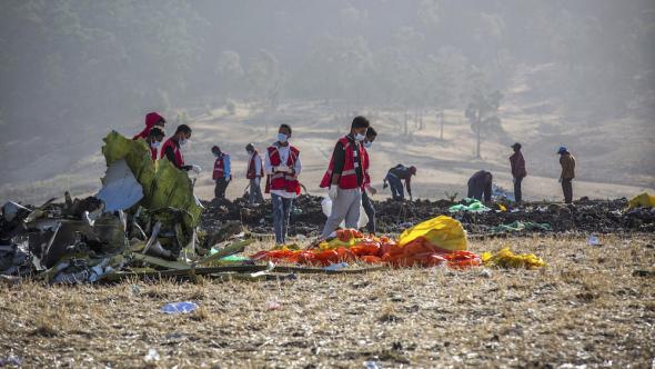 Místo havárie etiopského B737MAX