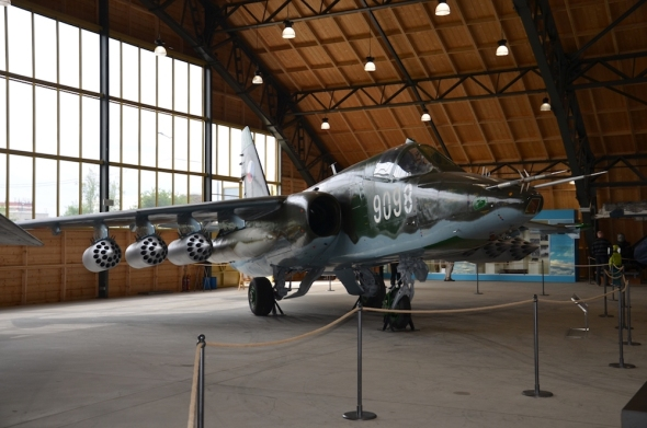 Suchoj SU 25 Stará Aerovka letecké muzeum Kbely