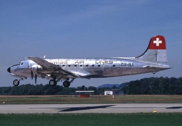 Douglas DC4 Praha swiss air lines