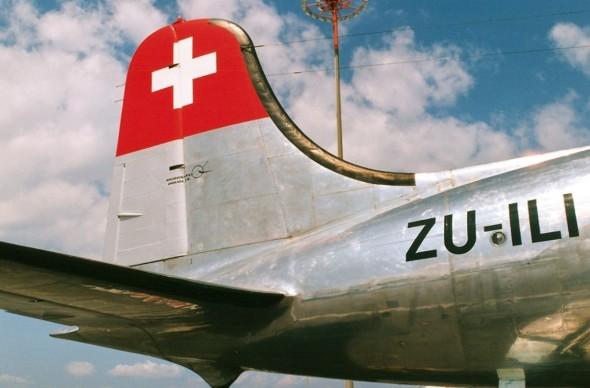 Douglas DC4 SWISSAIR letiště Praha