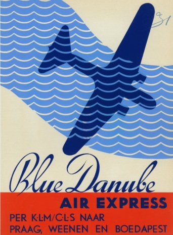 plakát 1936_Blue Danube Air Expres DC-2
