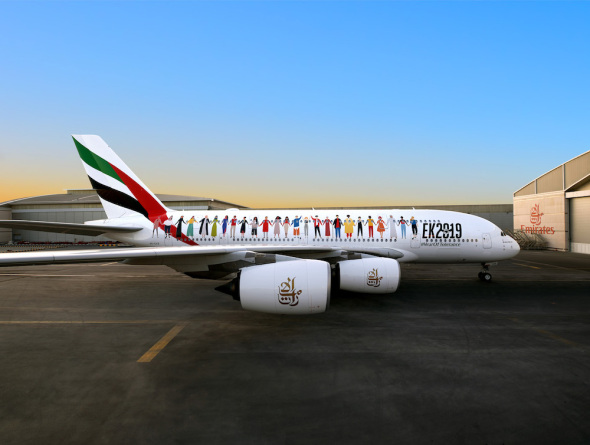 Emirates Year of Tolerance Airbus A380